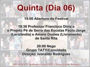 festaty1 300x224 - XXV FESTATY: Festival de teatro em Santa Rita reune 30 espetáculos e premia melhores destaques