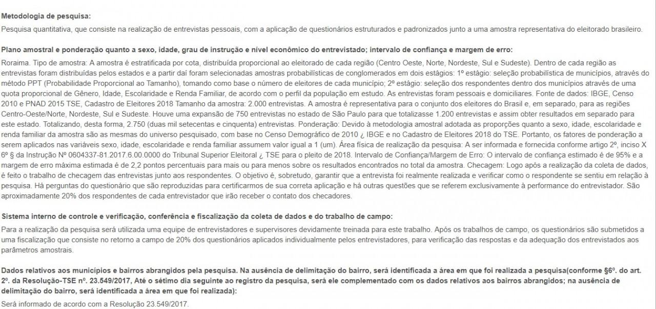 pesquisa Vox Populi metodologia - PESQUISA VOX POPULI: Haddad assume liderança na corrida presidencial
