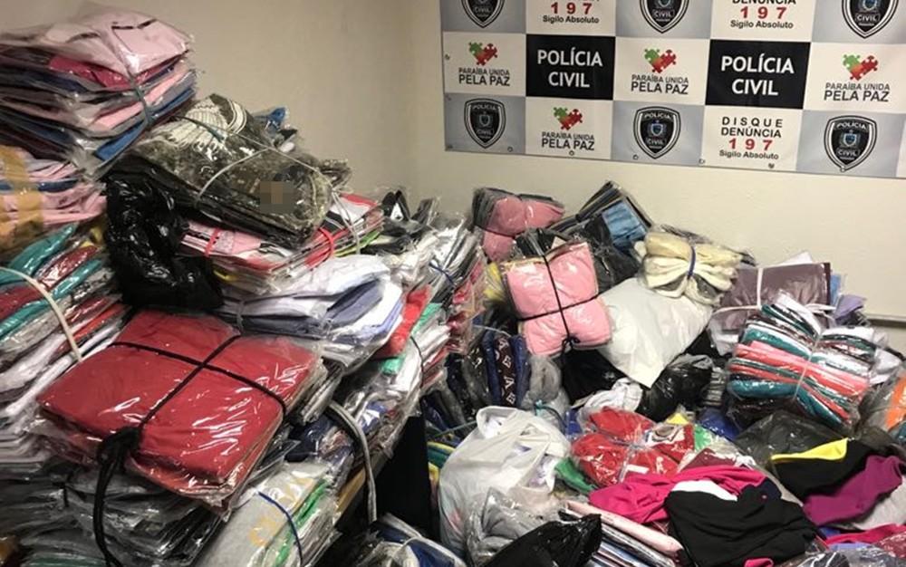 policia combate produtos falsos 4  - OPERAÇÃO RÉPLICA: empresários chineses são presos com 3 mil peças de mercadorias falsificadas