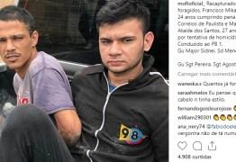 Veja vídeos de recaptura de presos do PB1 publicados nas redes sociais