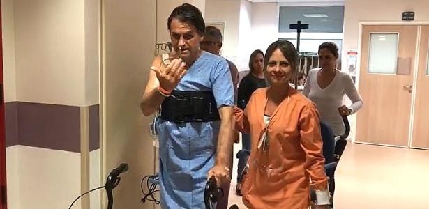 video mostra jair bolsonaro psl caminhando pelo corredor do hospital 1537113961049 615x300 - 38 GRAUS: Febre preocupa médicos de Jair Bolsonaro