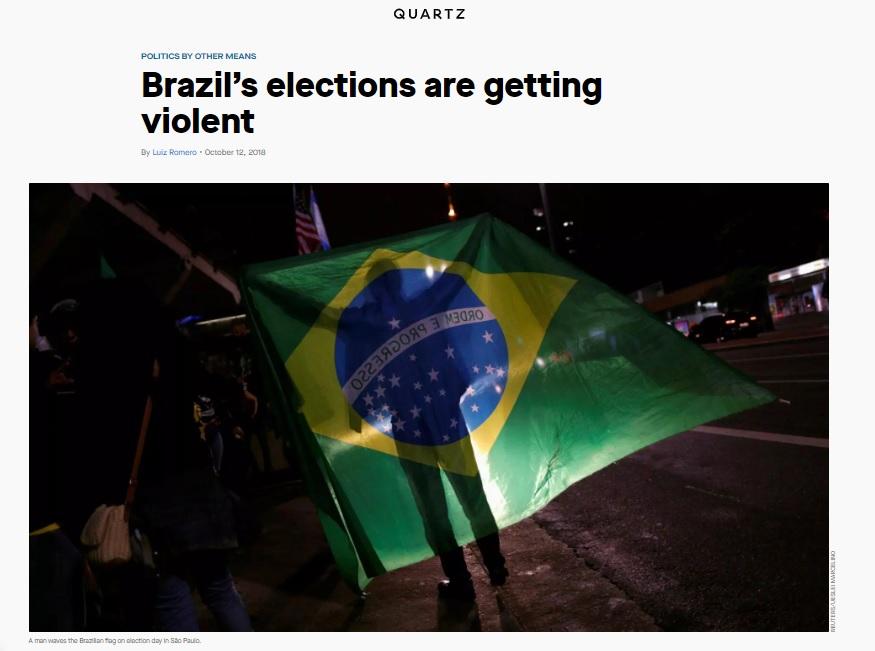 0violenciaelei - Imprensa estrangeira destaca aumento da violência política no Brasil