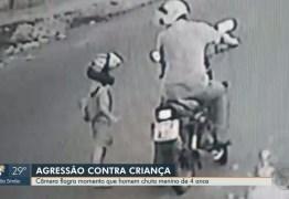 CENA FORTE: Padrasto que chutou enteado de 4 anos se apresenta à polícia após ser agredido – VEJA VÍDEO
