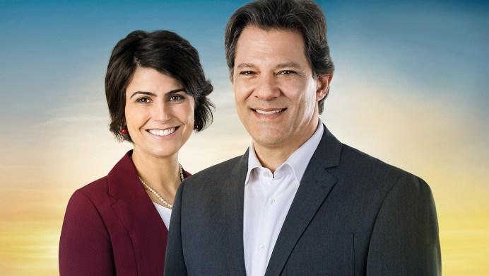 Haddad e Manuella 300x169 - Haddad concede entrevista a rádio Bandeirantes e rádio Capital em São Paulo