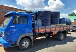 Bom Jesus da Lapa: Polícia apreende caminhão com 150 caixas d'água para compra de votos
