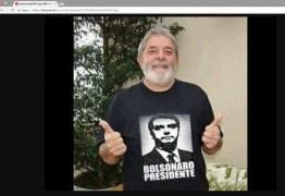 Site pessoal de Lula foi hackeado e ainda tem imagens de Bolsonaro