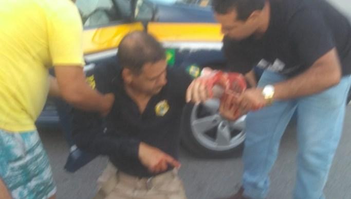 PRF ferido 1 - Homem que atirou em policiais rodoviários é suspeito de matar sargento da PM em Campina Grande