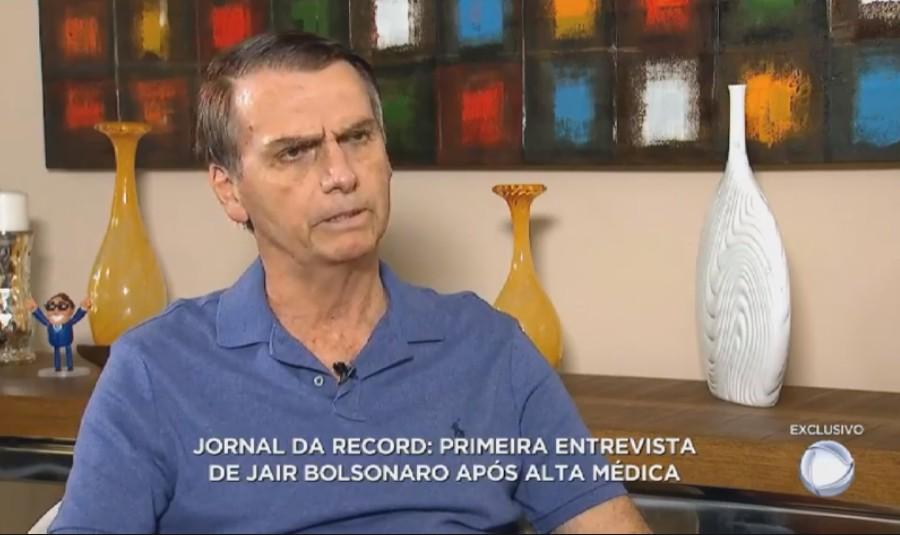 Untitledpoi - Em paralelo ao debate da TV Globo, Bolsonaro concede entrevista à TV Record - VEJA VÍDEO!