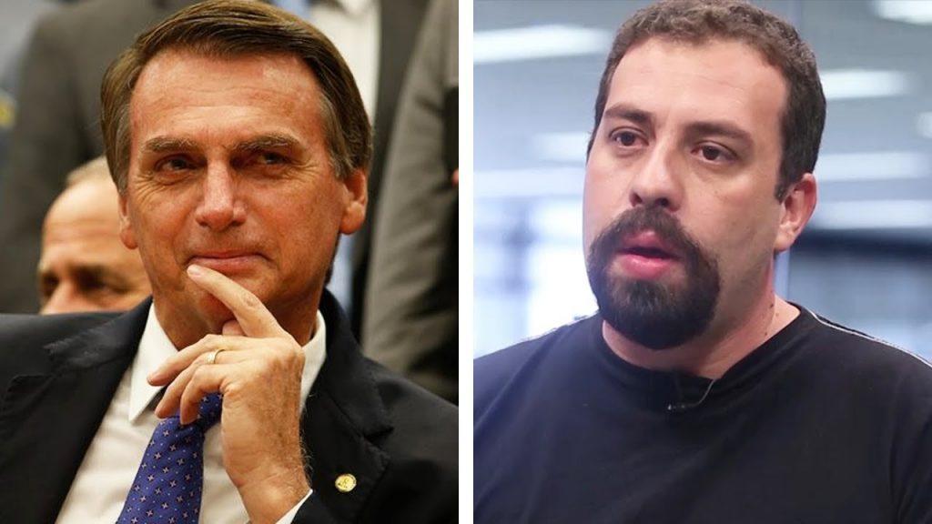 bolsonaro x boulos 1024x576 - Boulos e Bolsonaro trocam farpas após líder do MTST dizer que casa do presidenciável não é 'muito produtiva'