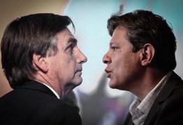 PESQUISA BTG PACTUAL/FSB: Após denúncia da Folha, Bolsonaro oscila para cima e tem 60% das intenções de voto; Haddad aparece com 40%