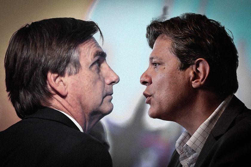 bolsonarohaddad 2 840x560 - 'Os eleitores serão culpados pelo que acontecer' - Por Elio Gaspari