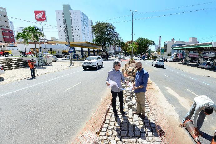 canteiro beira rio - Abertura de via transversal que liga Beira Rio à BR-230 em João Pessoa é adiada