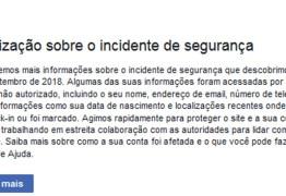 Facebook começa a avisar brasileiros que tiveram dados roubados