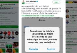 Após denúncias de fábrica de fake news, filho de Bolsonaro é banido do Whatsapp
