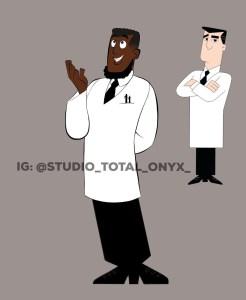 personagens negros professor 246x300 - Artista recria desenhos clássicos com personagens negros