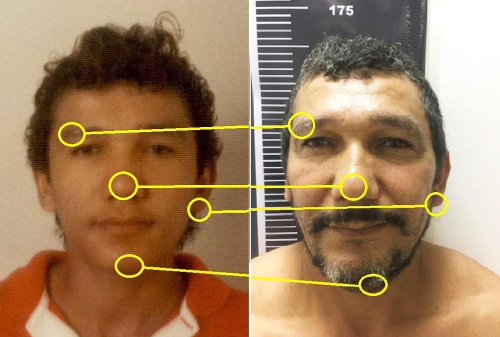preso 1 - TÉCNICA DE RECONHECIMENTO FACIAL: acusado de matar publicitária em Natal é preso 21 anos após o crime