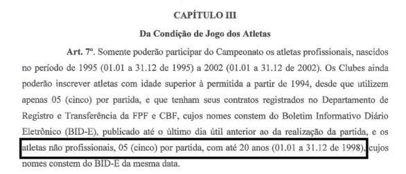 regulamento 300x129 - Perilima utiliza jogador irregular na 2ª divisão do Paraibano e pode até ser eliminada do torneio