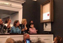 Obra de Banksy se autodestrói após ser vendida por 1 milhão de libras – VEJA VÍDEO!
