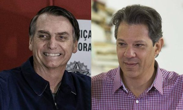 xbolsonaro e hadad e1539011054936.jpg.pagespeed.ic .Cra82W6eWZ - PESQUISA IBOPE 2º TURNO: Bolsonaro tem 59% dos votos válidos e Haddad, 41%