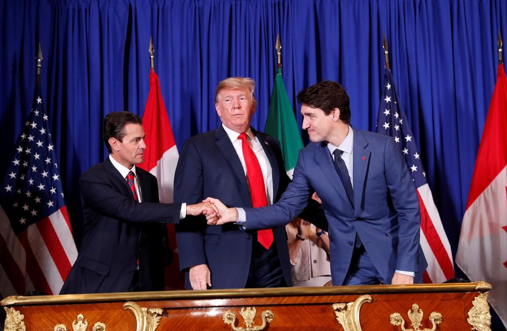 2018 11 30t125004z 1755200327 rc15b3c13990 rtrmadp 3 g20 argentina - No G20, EUA, Canadá e México oficializam acordo que substitui o Nafta