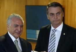 Questionado sobre crise no governo Bolsonaro Michel Temer defende presidente, 'Precisamos dar crédito'