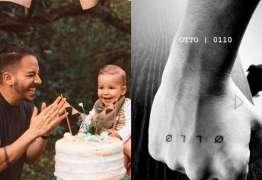 Junior Lima faz tatuagem em homenagem ao filho