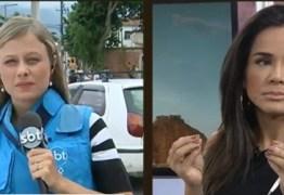 Repórter do SBT deixa link por conta de tiroteio: 'não temos mais segurança de continuar'