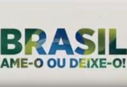 """""""Ame-o ou deixe-o"""": SBT resgata slogan da ditadura, mas recua e exclui vinhetas após repercussão"""