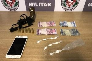 apreensao mandacaru  300x200 - Trio é preso suspeito de tráfico de drogas e porte ilegal de armas em Mandacaru