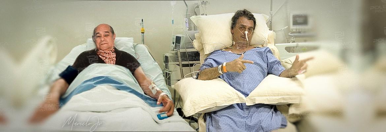 montagem304 - Bolsonaro e Tancredo: cirurgias em meio a um roteiro de posse no poder - Por Nonato Guedes