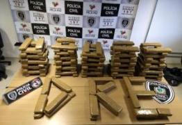 Polícia apreende 130kg de maconha em JP