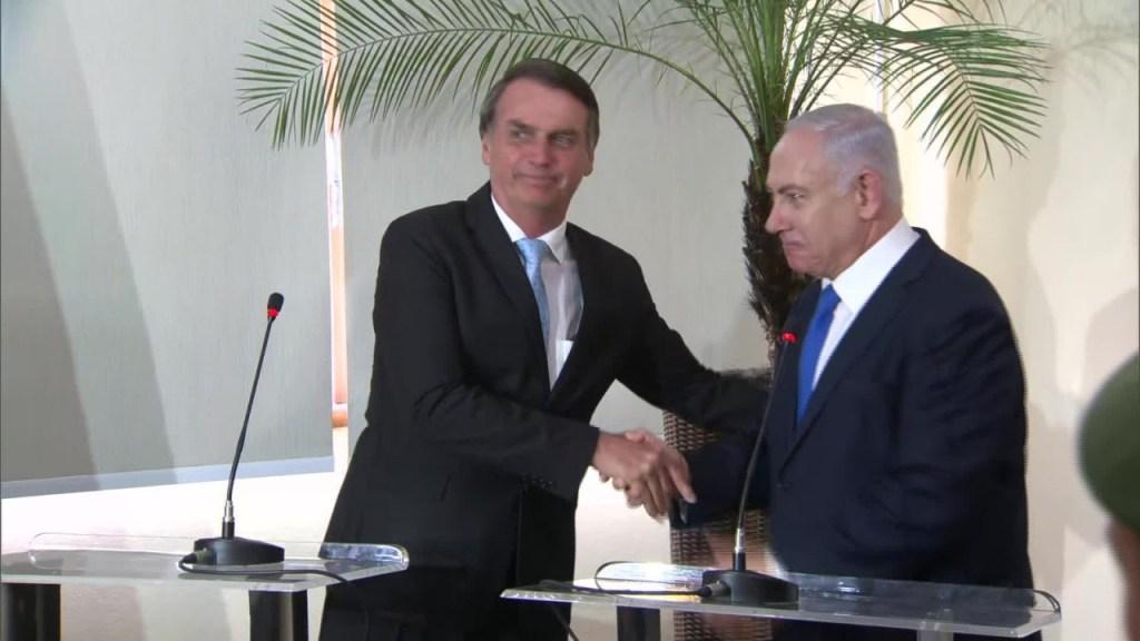 BOLSONARO E NETAYAHU 1024x576 - VEJA VÍDEO: Jair Bolsonaro promete 'política de grande parceria' com Israel durante encontro com Netanyahu