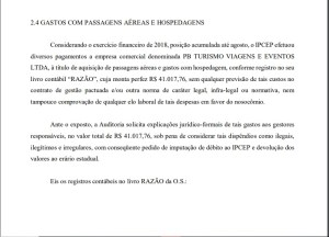 Gastos 300x216 - Auditoria do TCE questiona gastos com passagens aéreas e hospedagens, no valor de R$ 41 mil, pelo IPCEP