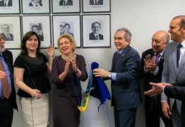 Raimundo Lira recebe homenagem de Senadores com aposição de sua foto na Liderança do MDB