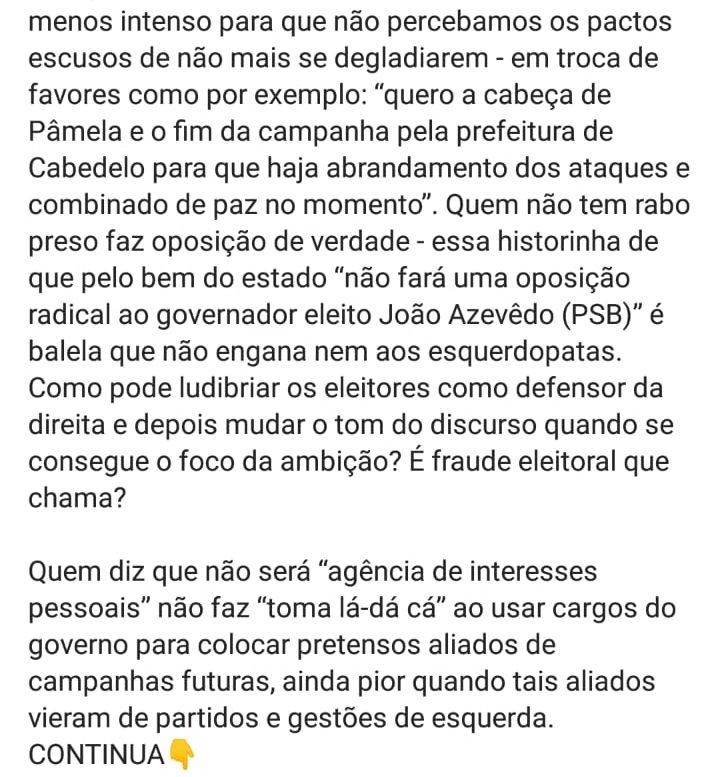 WhatsApp Image 2018 12 07 at 09.57.39 2 e1544187735988 - 'NÃO TEMOS BANDIDO DE ESTIMAÇÃO': Pâmela Bório cutuca Julian Lemos sobre arenga com Carlos Bolsonaro