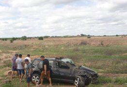 Motorista falece ao perder controle de veículo e capotar na região de Catolé do Rocha