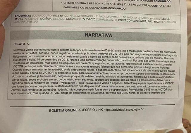 boletim 2 - COVARDE: Filho de ex-prefeito agride namorada; mulher registrou todo o momento - VEJA VÍDEO