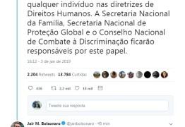 Bolsonaro cita secretaria que será ocupada por Sérgio Queiroz e diz que Governo não vai abandonar, mas libertar brasileiros da 'escravidão política'