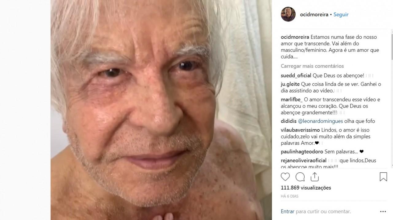 CID MOREIRA - Aos 91 anos, Cid Moreira reaparece em vídeo sendo cuidado pela mulher: VEJA VÍDEO