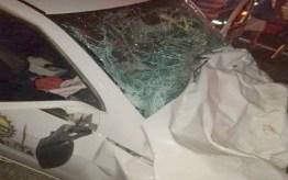 Acidente envolvendo carro de prefeitura na BR-230 deixa dois mortos e um ferido