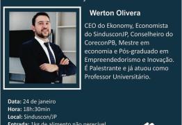 Economista realizará palestra em João Pessoa sobre as principais perspectivas para a Construção Civil em 2019