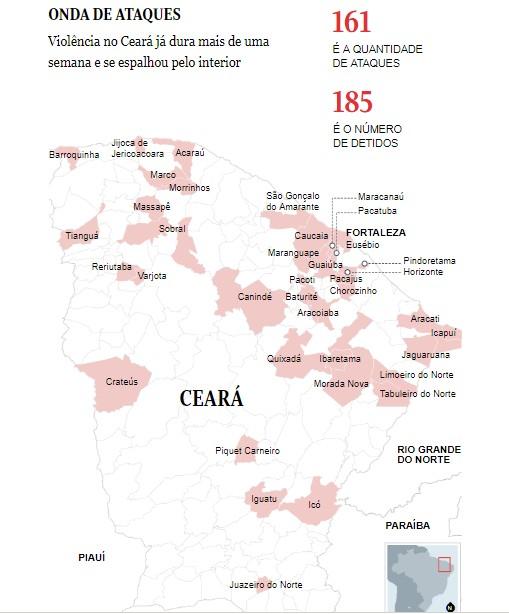 ataques - A exemplo do Ceará, Pará e Espírito Santo pedem ajuda federal para segurança