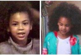 Idênticas! Beyoncé compara foto de sua infância com imagem da filha Blue Ivy