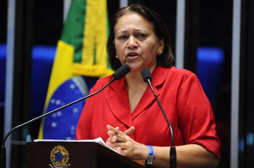 fatima bezerra marcos olivera agencia senado - Paraibana Fátima Bezerra toma posse como governadora do Rio Grande do Norte