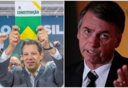 Pelo Twitter, Haddad dá invertida em Bolsonaro: 'se já se sentir seguro para um debate, estou disponível'