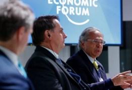 Em Davos, Bolsonaro e Paulo Guedes apontam nome de João Dória como opção para governar o Brasil no futuro