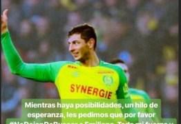 """Messi e Sorin fazem apelo: """"Peço por favor que não desistam de procurar o Emiliano Sala"""" – VEJA VÍDEO"""
