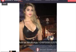 Ex-namorada de ex-deputado aparece com anúncio ousado em site de acompanhantes de luxo