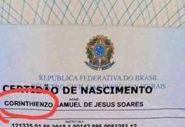 Corintiano registra filho com o nome de Corinthienzo