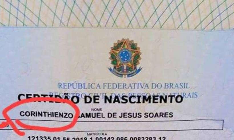 20190212203601883506i - Corintiano registra filho com o nome de Corinthienzo
